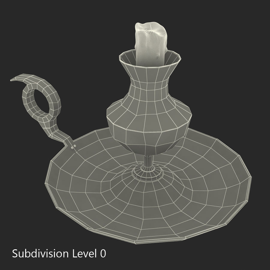 Antique Candle Holder royalty-free 3d model - Preview no. 16