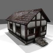 średniowieczny dom 3d model