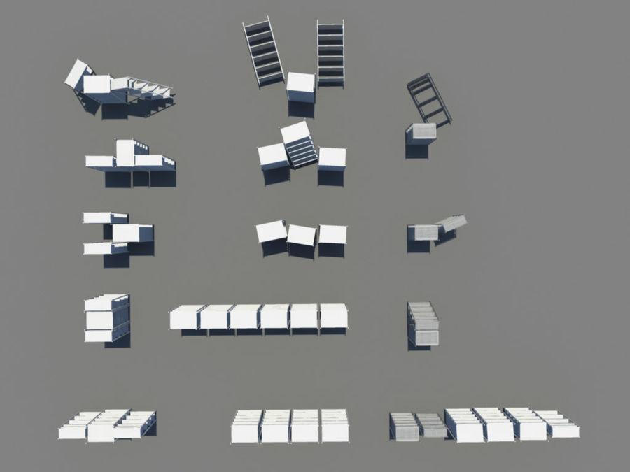 Scaffali, varianti di scaffali royalty-free 3d model - Preview no. 5