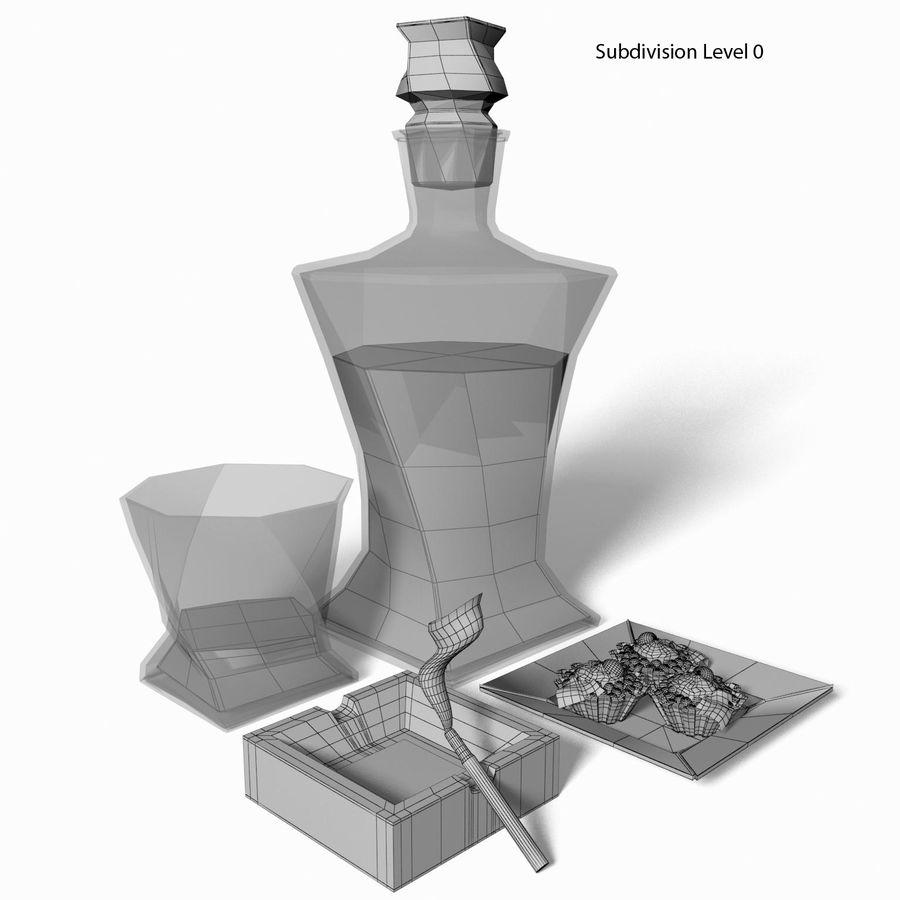 Whisky med en mellanmål royalty-free 3d model - Preview no. 7