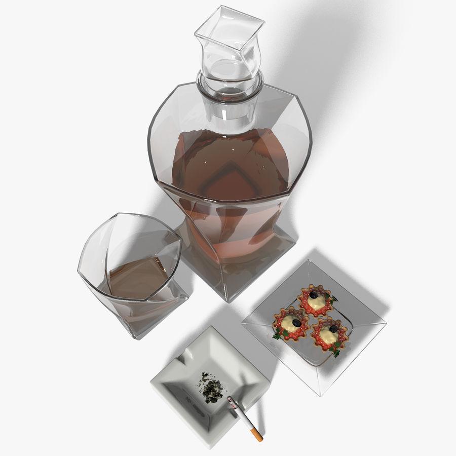 Whisky med en mellanmål royalty-free 3d model - Preview no. 4