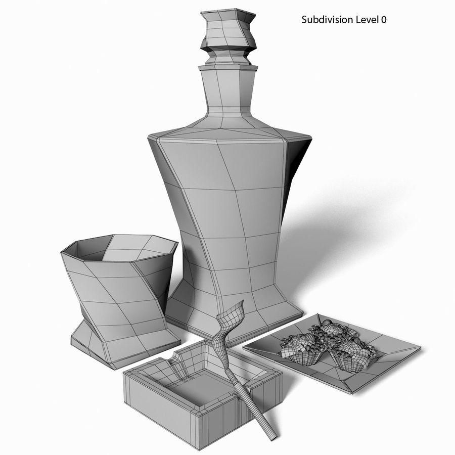 Whisky med en mellanmål royalty-free 3d model - Preview no. 6