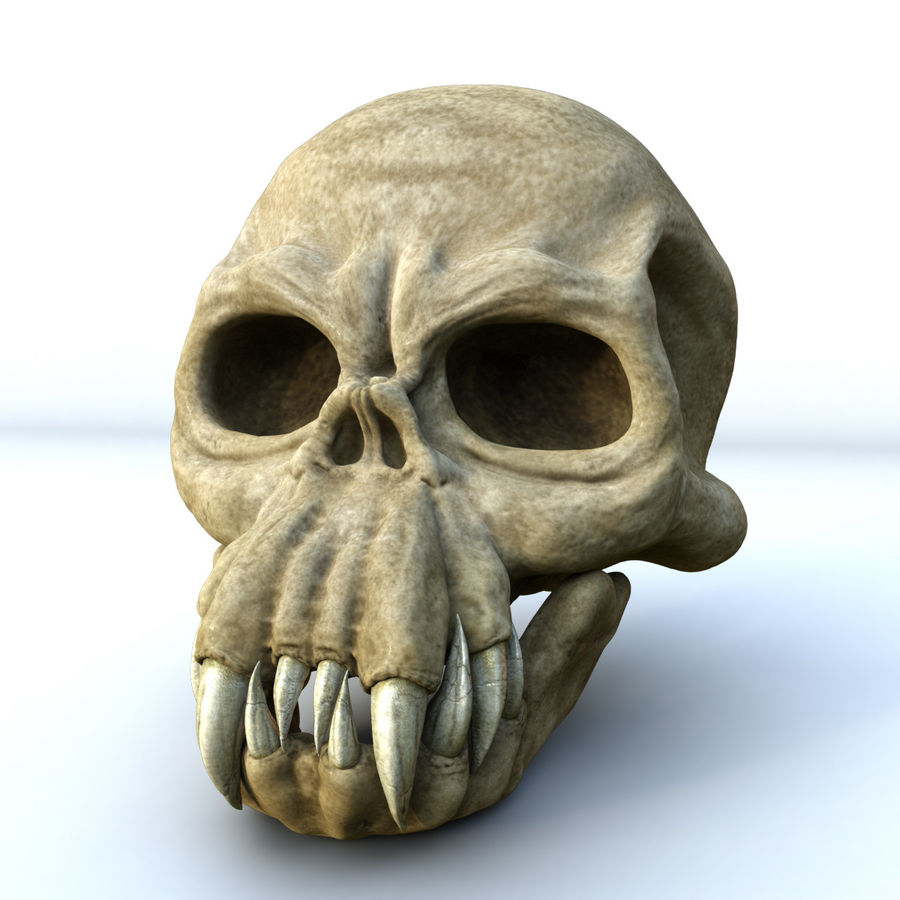 Monster Skull royalty-free 3d model - Preview no. 2