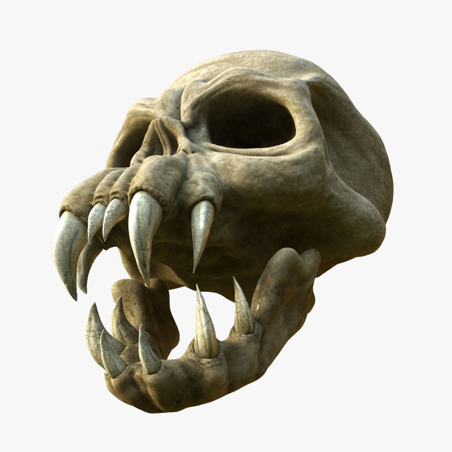 Monster Skull royalty-free 3d model - Preview no. 3
