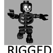 LEGO Black Skeleton (rigged) 3d model