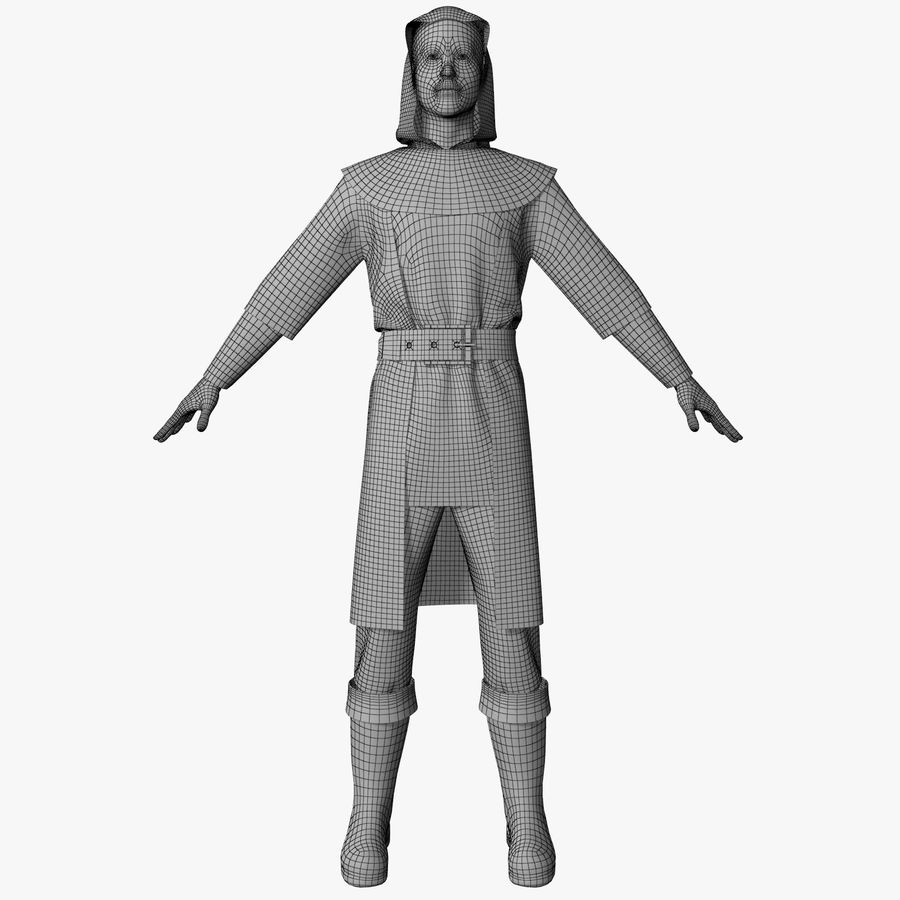 Clothes Character royalty-free 3d model - Preview no. 9