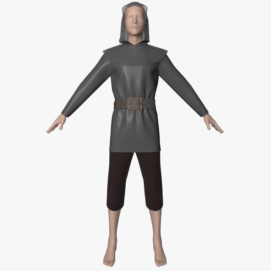 Clothes Character royalty-free 3d model - Preview no. 7