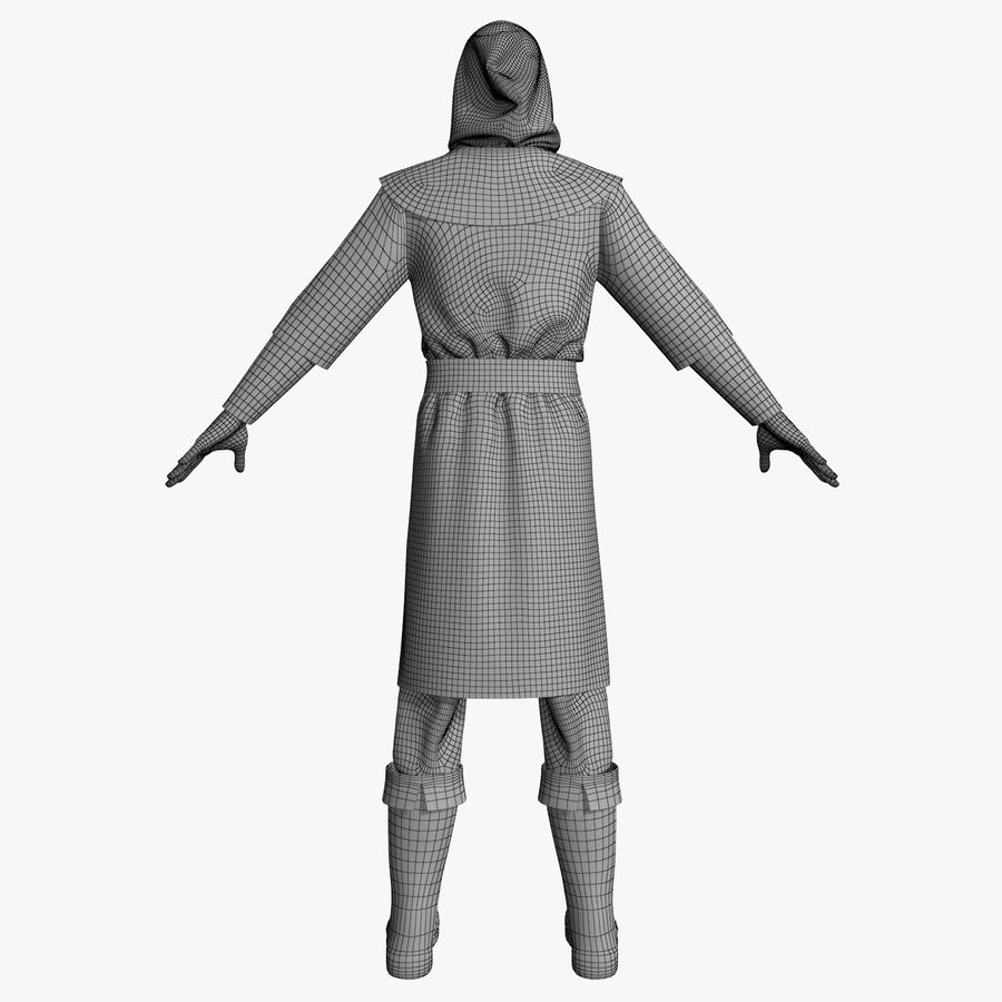 Clothes Character royalty-free 3d model - Preview no. 14