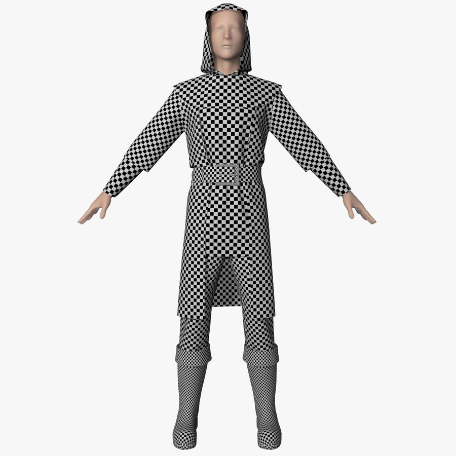 Clothes Character royalty-free 3d model - Preview no. 8