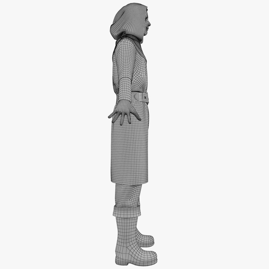 Clothes Character royalty-free 3d model - Preview no. 13