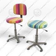 椅子とスツール 3d model
