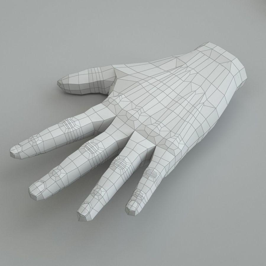 Menselijke hand royalty-free 3d model - Preview no. 6