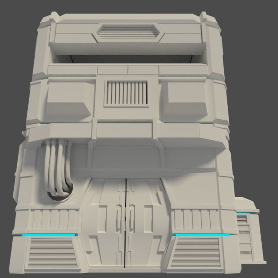 Sci-Fi Building royalty-free 3d model - Preview no. 5