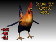 3D Low Poly Rooster Model Low Poly 3d model