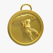 Зонт Бой Медаль 3d model