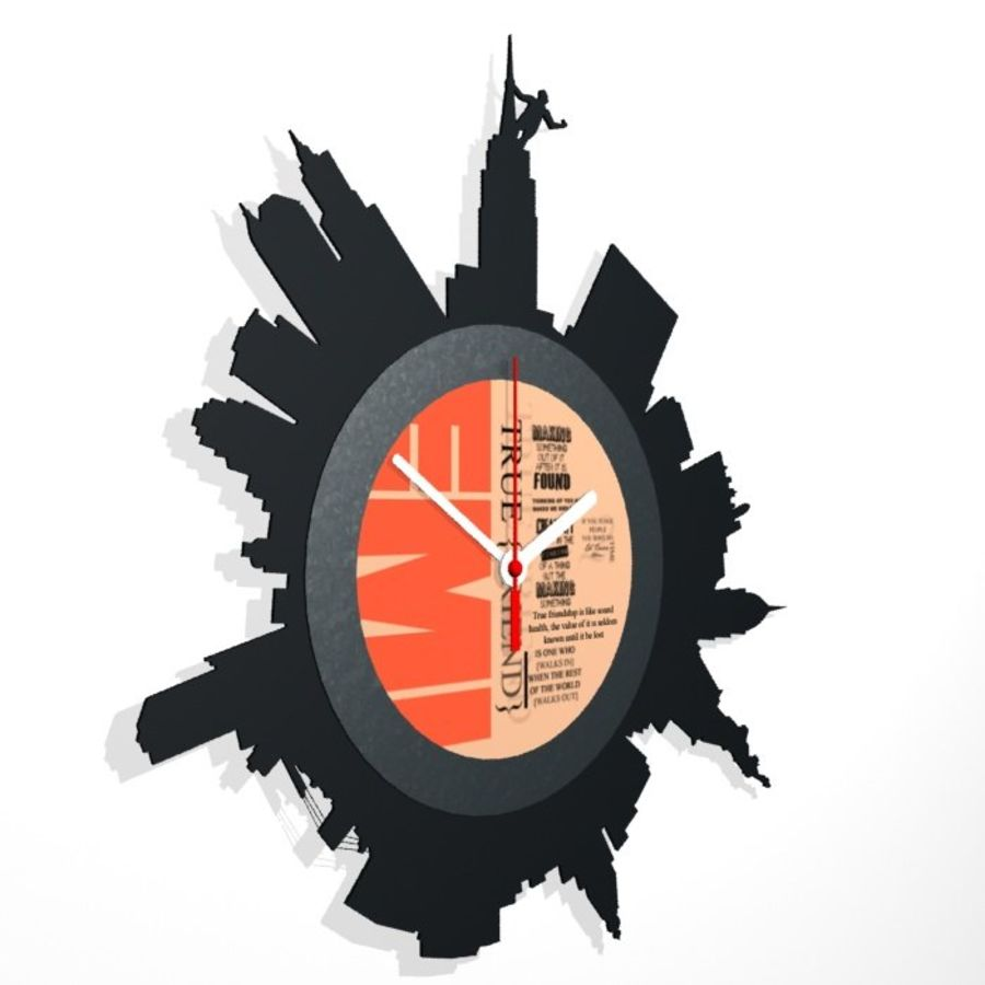 Relógio de Nova York royalty-free 3d model - Preview no. 3
