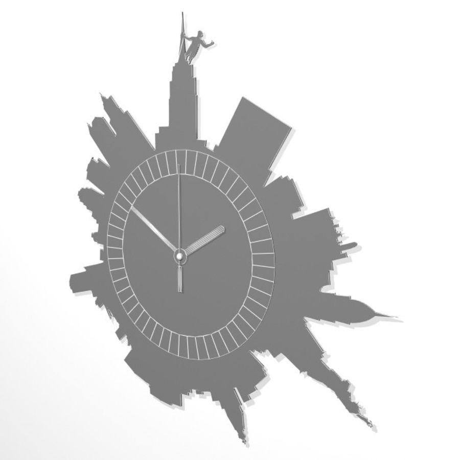 Relógio de Nova York royalty-free 3d model - Preview no. 6
