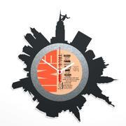 뉴욕 시계 3d model