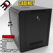 Network Server Data Cabinet 3d model