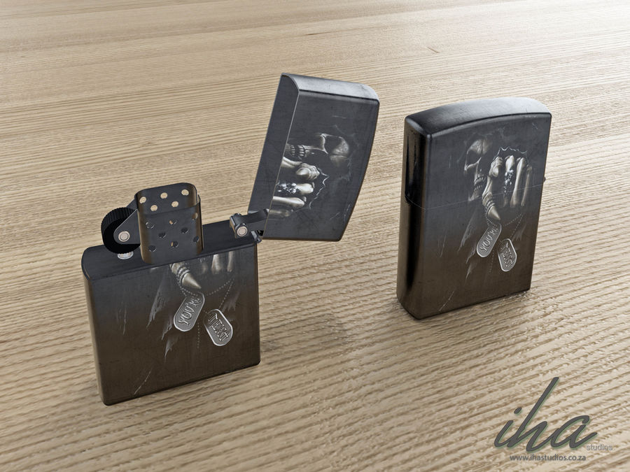 Zippo royalty-free 3d model - Preview no. 1
