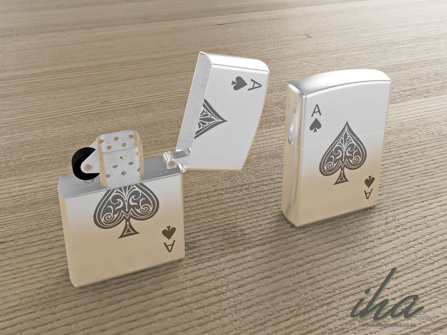 Zippo royalty-free 3d model - Preview no. 3