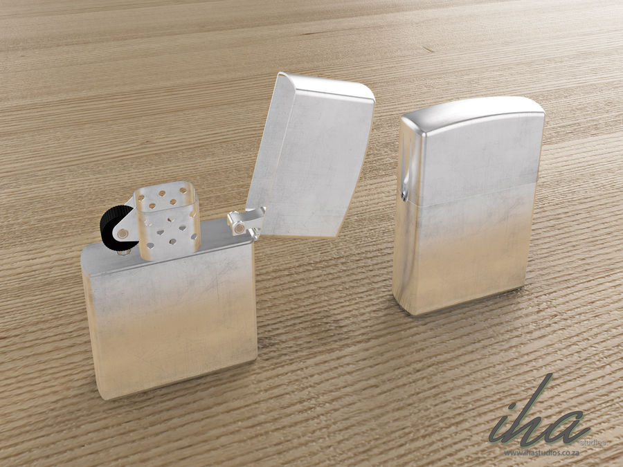 Zippo royalty-free 3d model - Preview no. 5