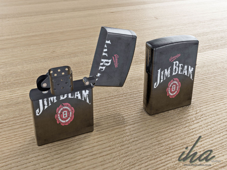 Zippo royalty-free 3d model - Preview no. 2