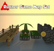亚军游戏地图设置低聚 3d model