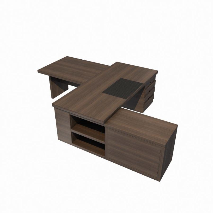 사무용 책상 royalty-free 3d model - Preview no. 3