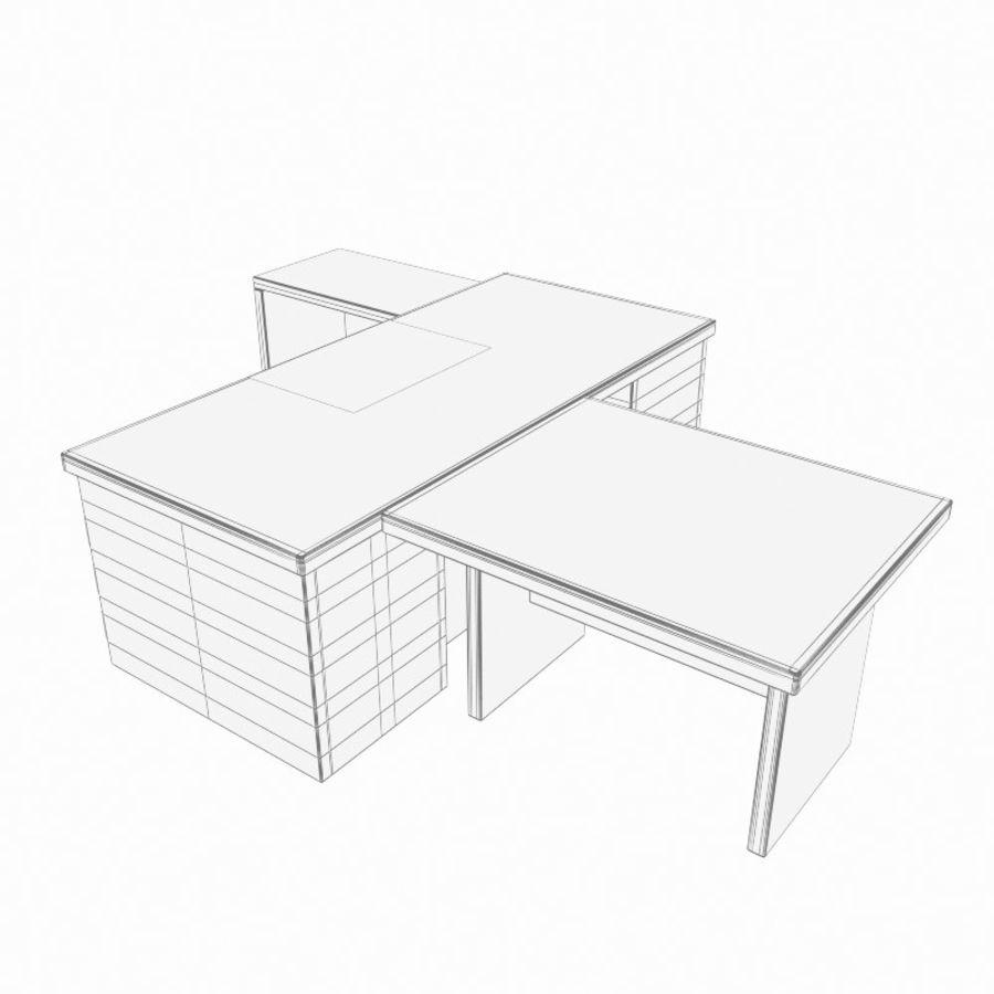 사무용 책상 royalty-free 3d model - Preview no. 8