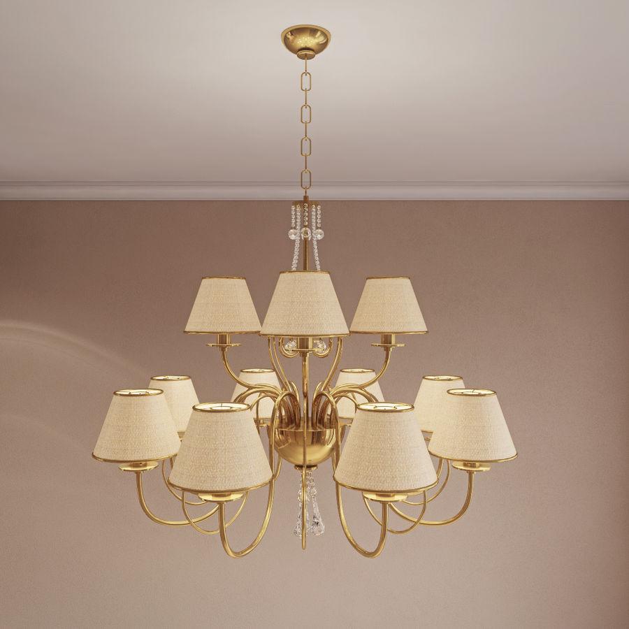 Baga Lamp art 1110 chandelier royalty-free 3d model - Preview no. 2