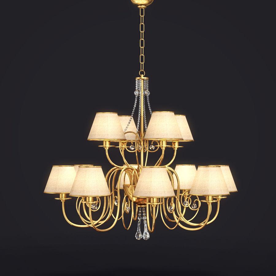 Baga Lamp art 1110 chandelier royalty-free 3d model - Preview no. 1