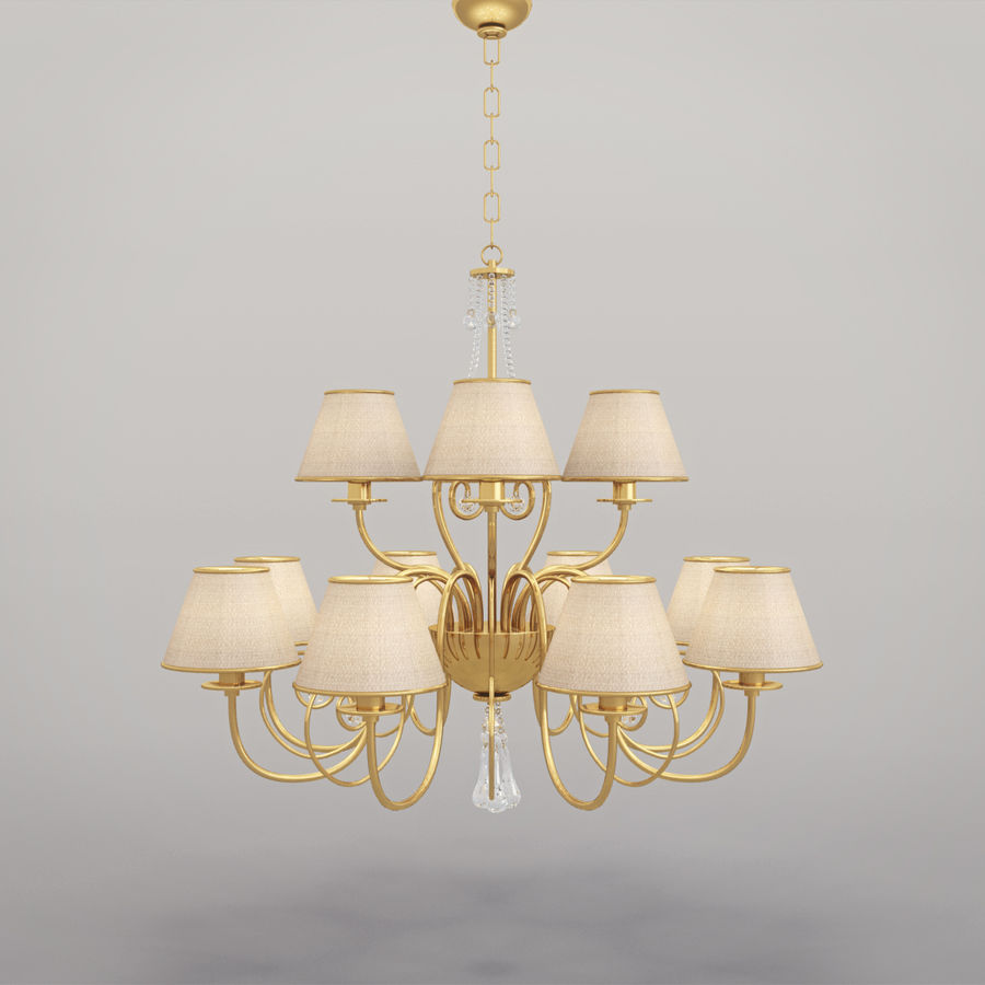 Baga Lamp art 1110 chandelier royalty-free 3d model - Preview no. 12