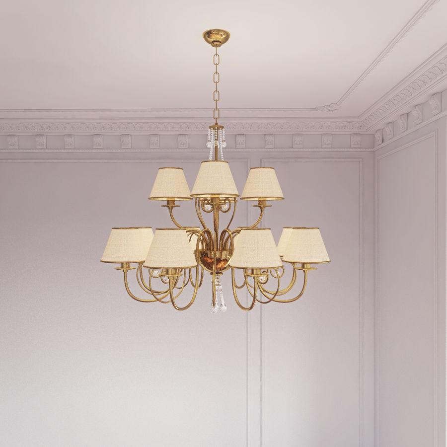 Baga Lamp art 1110 chandelier royalty-free 3d model - Preview no. 5