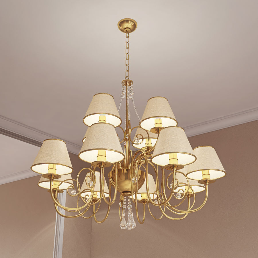 Baga Lamp art 1110 chandelier royalty-free 3d model - Preview no. 3