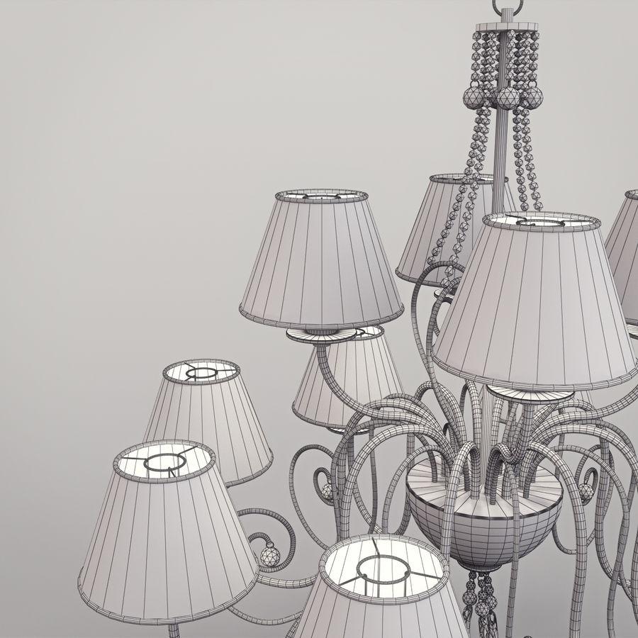 Baga Lamp art 1110 chandelier royalty-free 3d model - Preview no. 15