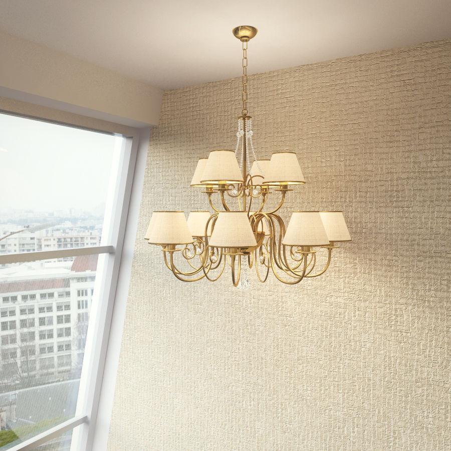 Baga Lamp art 1110 chandelier royalty-free 3d model - Preview no. 7