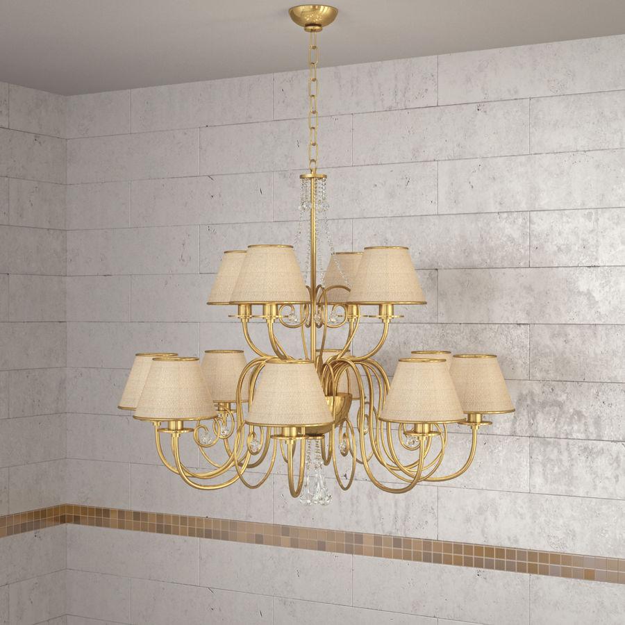 Baga Lamp art 1110 chandelier royalty-free 3d model - Preview no. 9