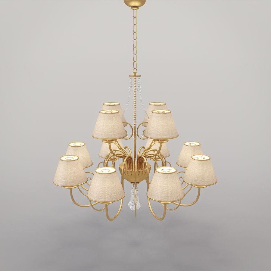 Baga Lamp art 1110 chandelier royalty-free 3d model - Preview no. 11