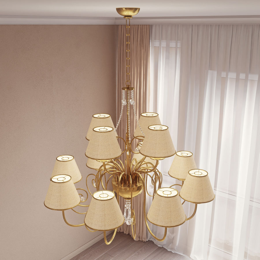 Baga Lamp art 1110 chandelier royalty-free 3d model - Preview no. 4