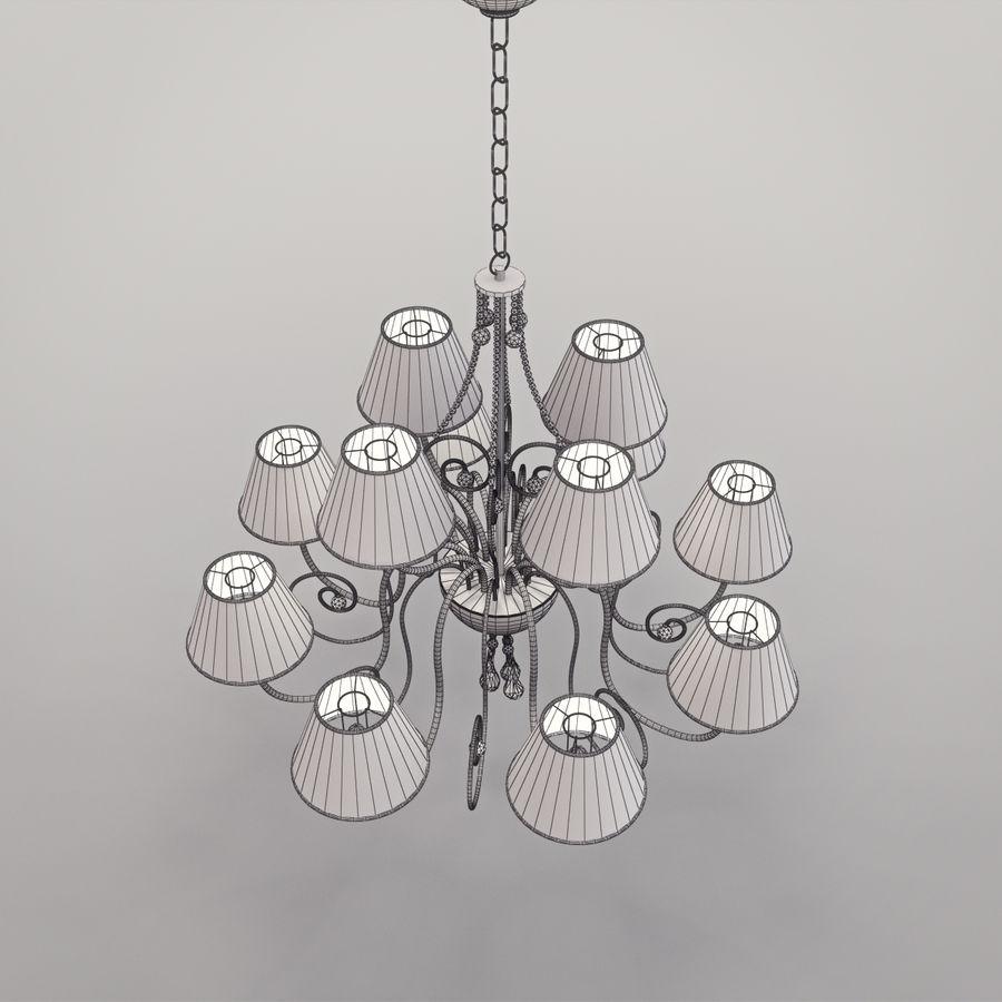 Baga Lamp art 1110 chandelier royalty-free 3d model - Preview no. 14