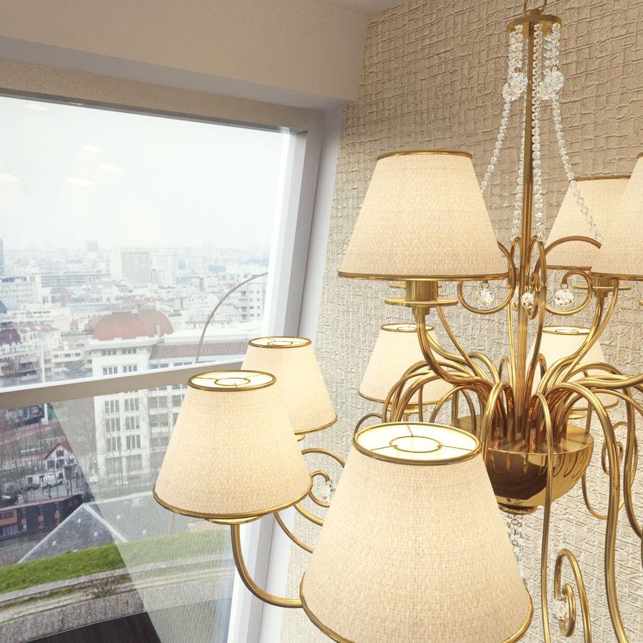 Baga Lamp art 1110 chandelier royalty-free 3d model - Preview no. 8