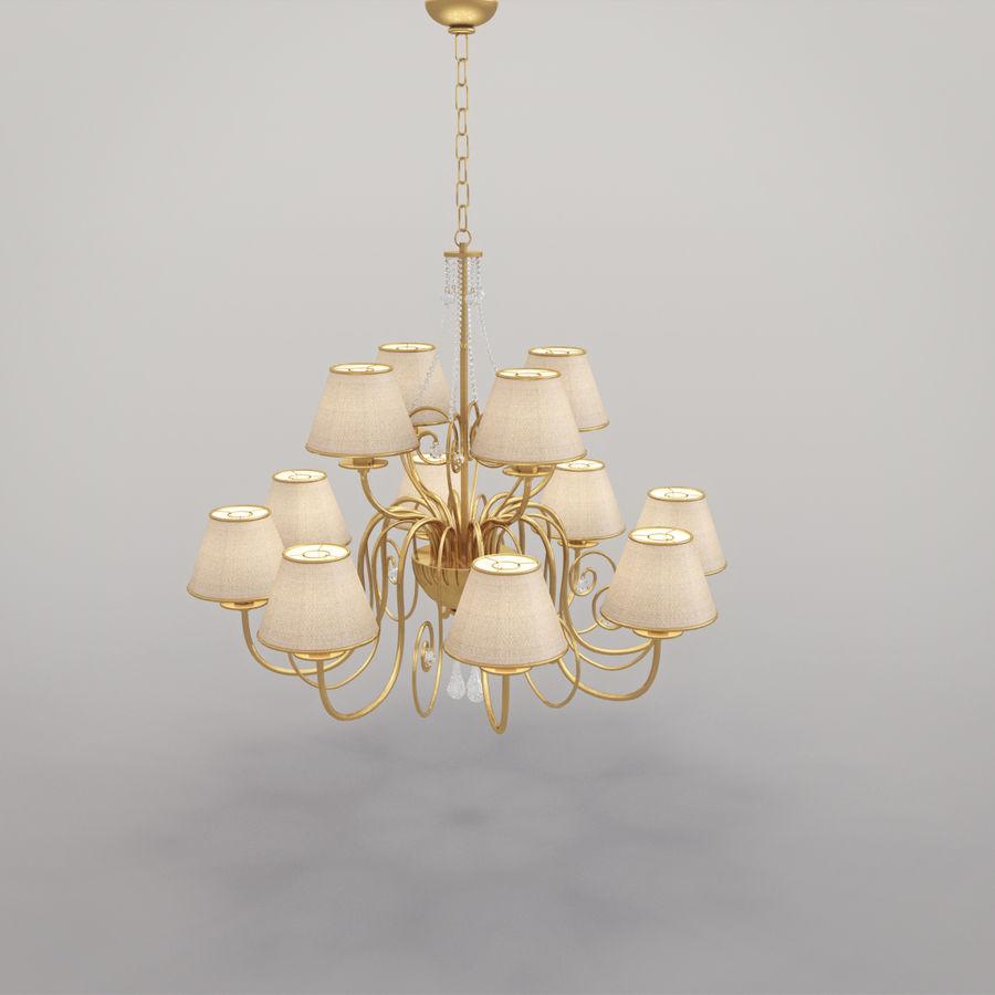 Baga Lamp art 1110 chandelier royalty-free 3d model - Preview no. 10