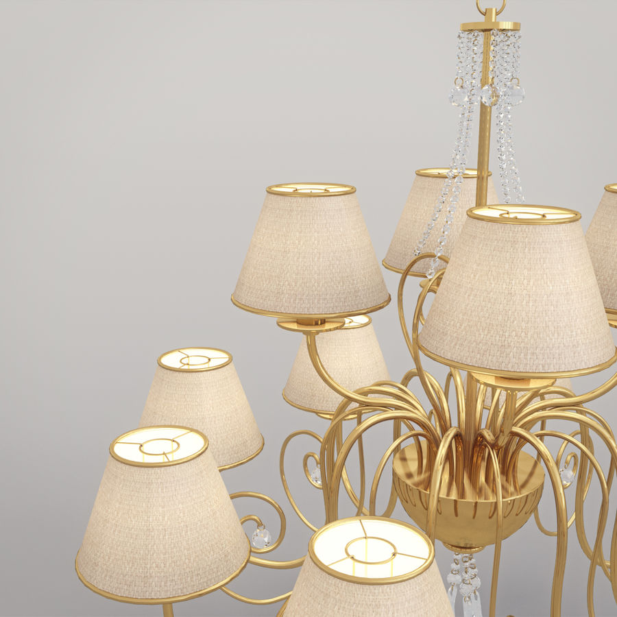 Baga Lamp art 1110 chandelier royalty-free 3d model - Preview no. 13