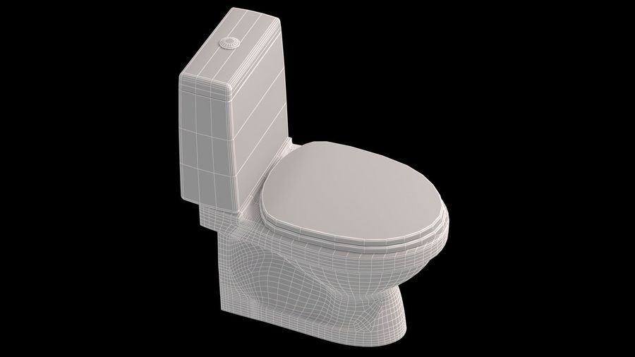 baño royalty-free modelo 3d - Preview no. 3