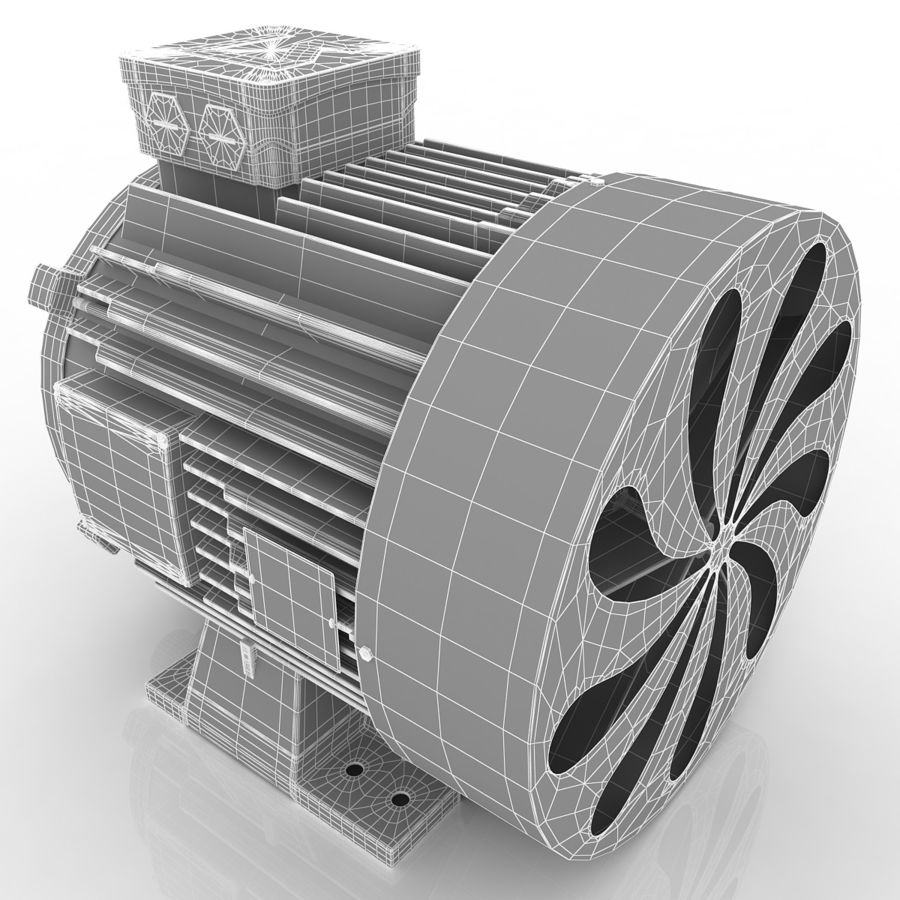 Motor eléctrico royalty-free modelo 3d - Preview no. 11