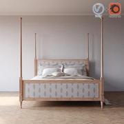 Left Blank King bed 3d model
