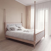 Links leeg kingsize bed 3d model