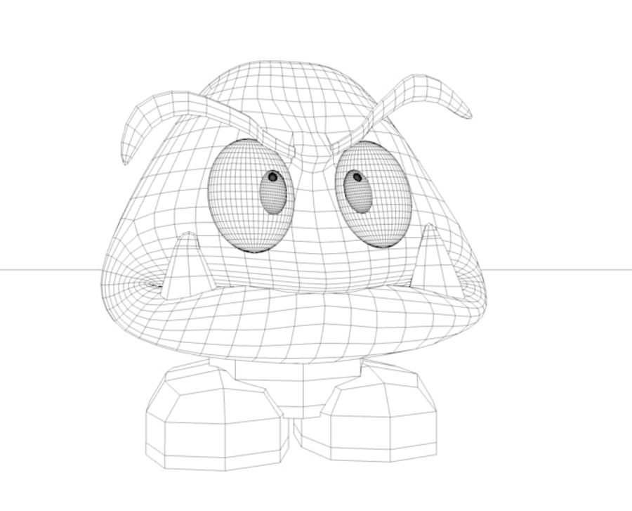 goomba royalty-free 3d model - Preview no. 5