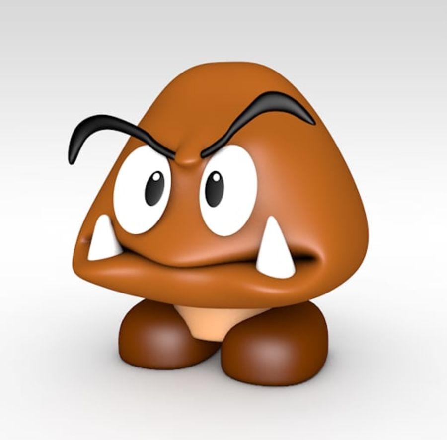 goomba royalty-free 3d model - Preview no. 2